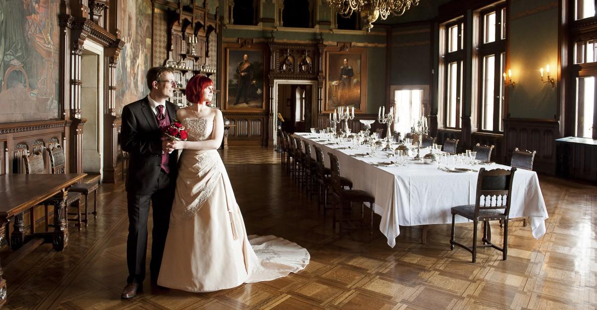 Hochzeit Schloss Wernigerode - Hochzeitsfotos im großen Saal auf Schloss Wernigerode