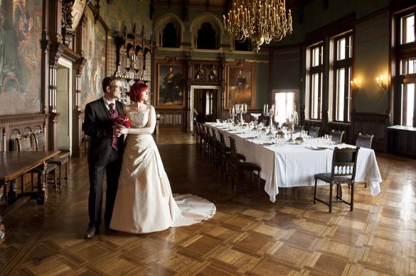 Hochzeit Schloss Wernigerode - Hochzeitsportrait im großen Saal