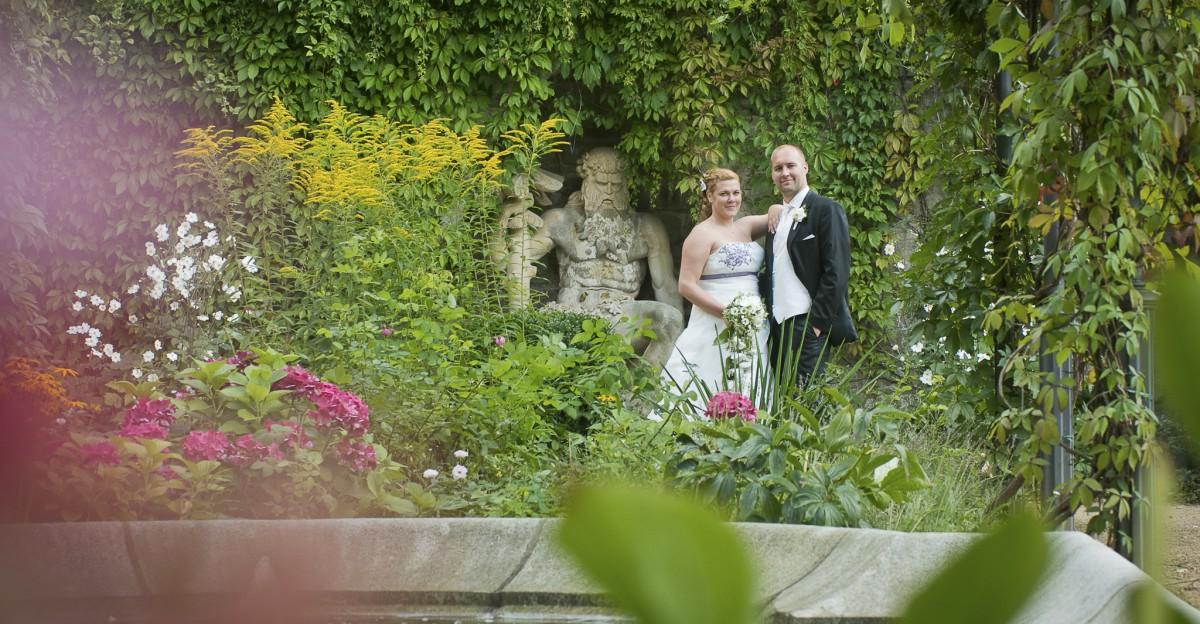 Hochzeit Schloss Wernigerode - Hochzeitsportraits auf den Schlossterassen