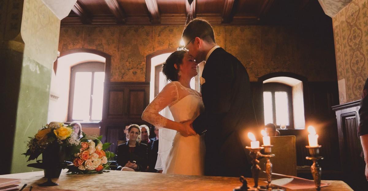 Reportage der Trauung im Rauchsalon Schloss Wernigerode - Hochzeitsfotografie